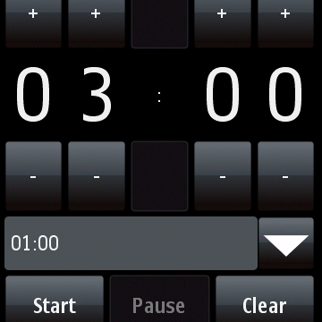 Mathiola Countdown Timer for Symbian touch
